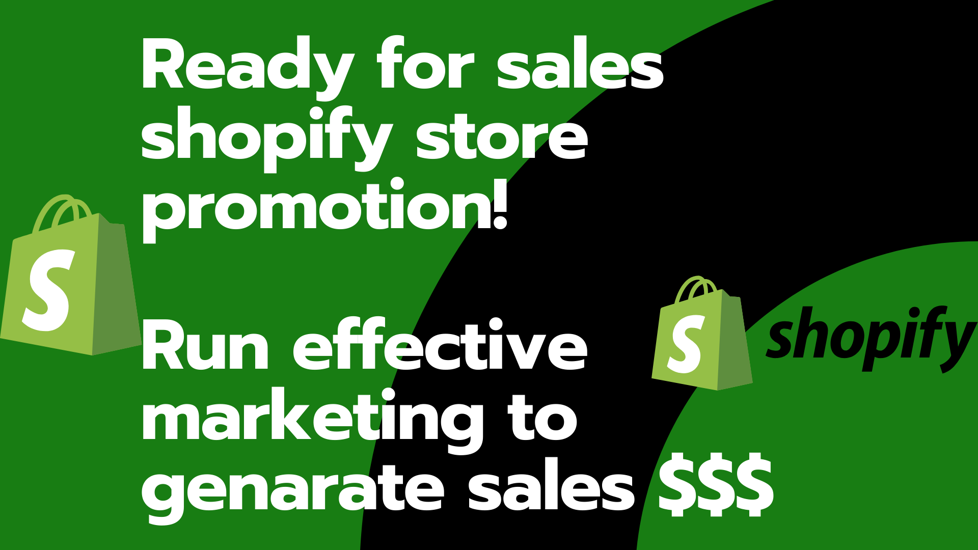 I will run active shopify promotion shopify marketing to generate sales, FiverrBox