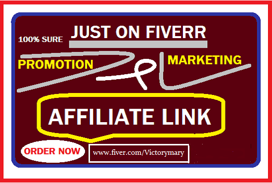 I will do affiliate link promotion,teespring,redbubble,digistore,clickbank,shopify USA, FiverrBox