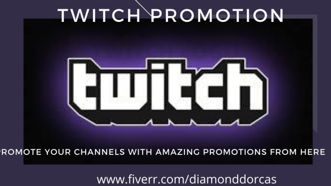 I will promote your twitch channel to increase views design logo, FiverrBox
