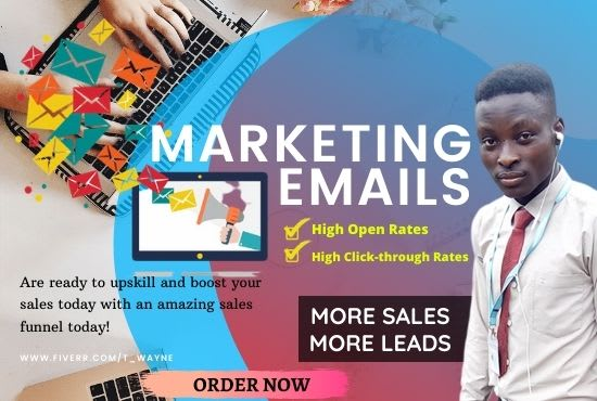 I will setup getresponse, mail chimp or klaviyo email marketing series, FiverrBox