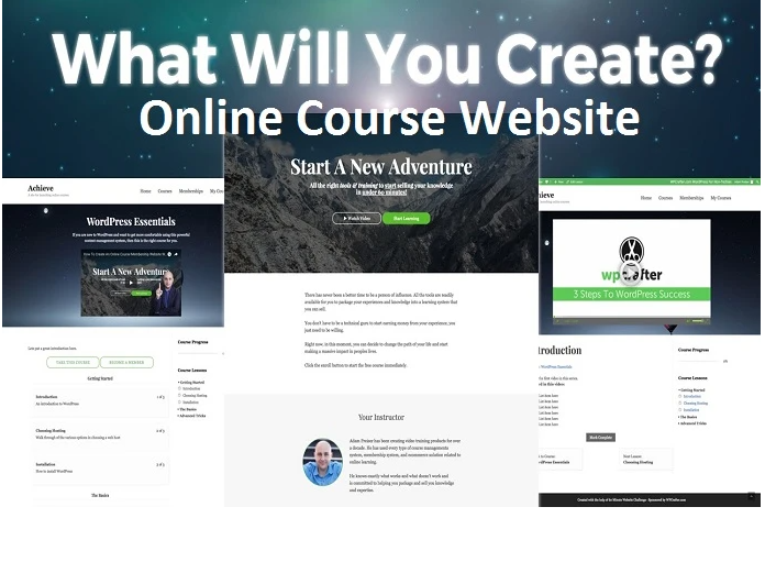 I will design online course website,online course,thinkific landing page, FiverrBox
