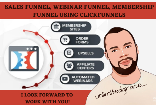 I will create sales funnel, webinar funnel, membership funnel using clickfunnels, FiverrBox