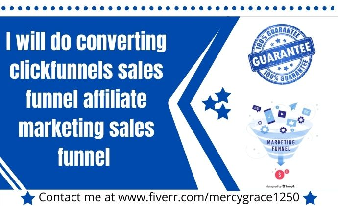 I will do converting clickfunnels sales funnel affiliate marketing sales funnel, FiverrBox