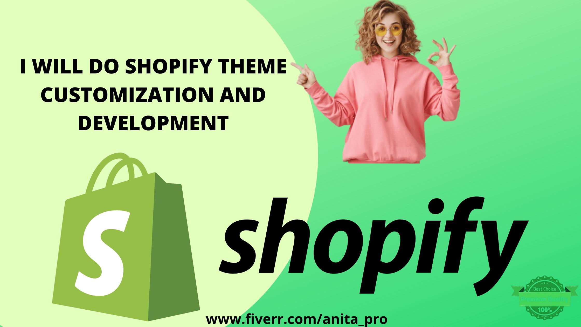 I will do shopify theme customization and development, FiverrBox