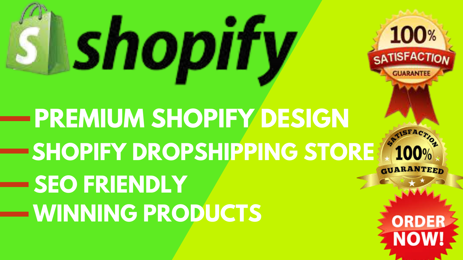 I will design build set up profitable shopify dropshipping website store design, FiverrBox