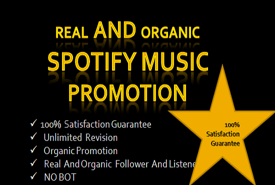 I will do spotify promotion to get human followers, streams and listeners, FiverrBox