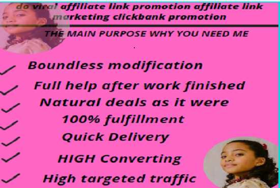 I will I will do viral affiliate link promotion affiliate link marketing clickbank promotion, FiverrBox