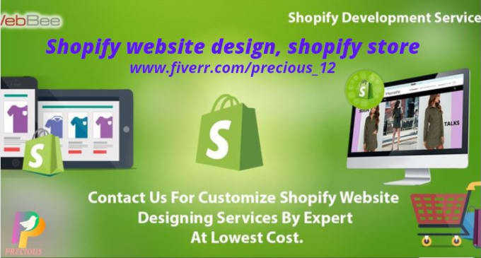I will set up a captivating shopify website design, FiverrBox