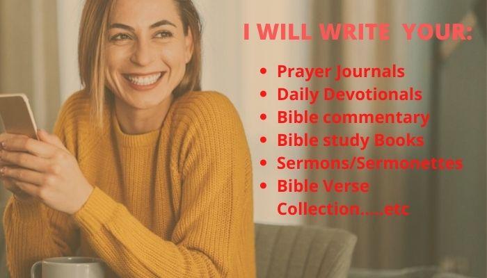 I will ghostwrite your christian ebook, ebook writer, editor, FiverrBox