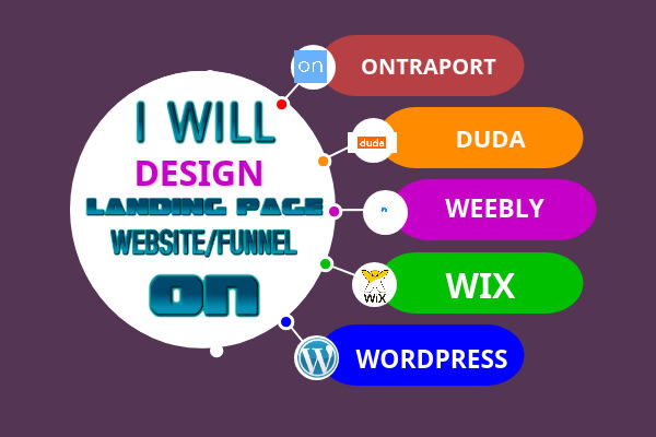 I will design or redesign landing page,on duda,ontraport,convertri wix, weebly website, FiverrBox