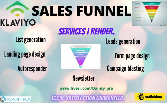I will set up klaviyo sales funnel shopify sales funnel, FiverrBox