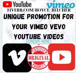 I will do unique promotion for your vimeo vevo youtube videos, FiverrBox
