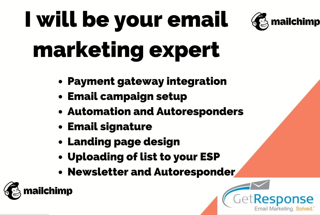 I will be your email marketing, newsletter, email campaign expert, FiverrBox