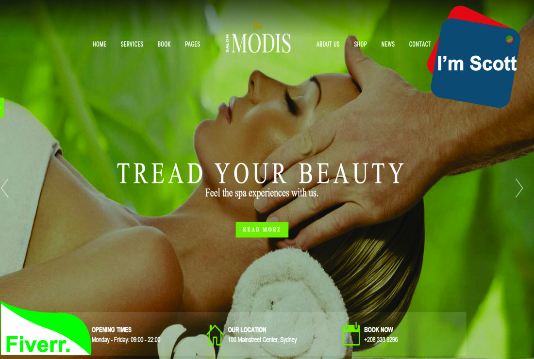 I will design a beauty and spa website, FiverrBox