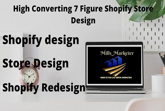 I will design 7 figure shopify store design and shopify redesign, FiverrBox