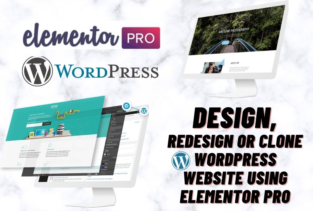 I will design, redesign or clone wordpress website using elementor pro, FiverrBox