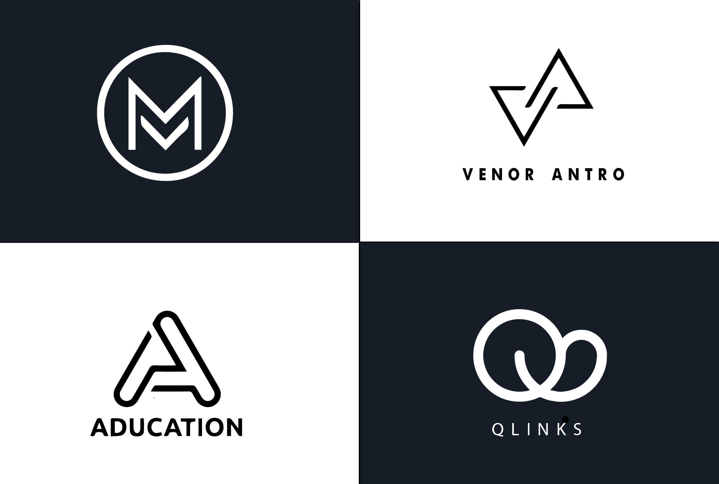 I will do a creative unique modern minimalist business logo design, FiverrBox