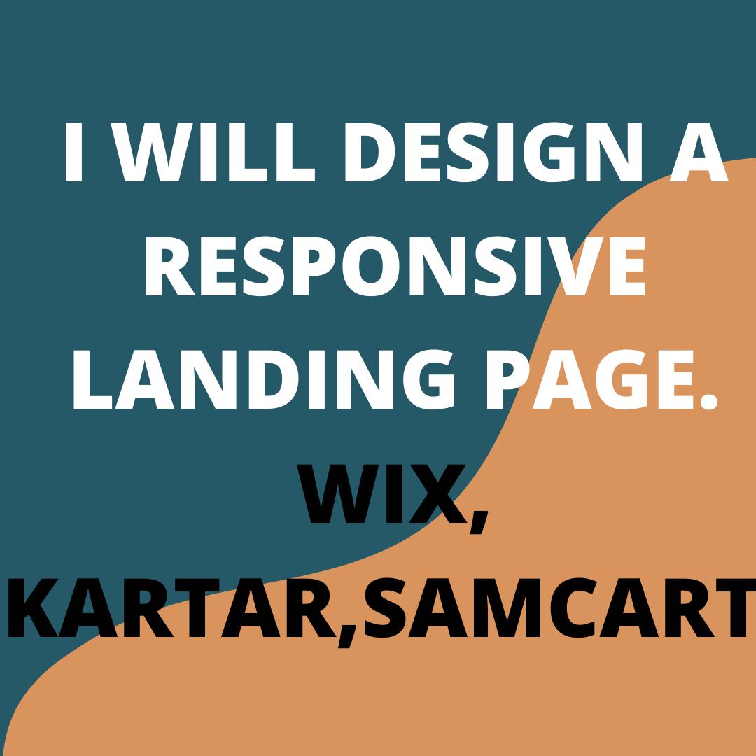 I will design wix landing page, kartra, samcart landing page, clickfunnels landing page, FiverrBox