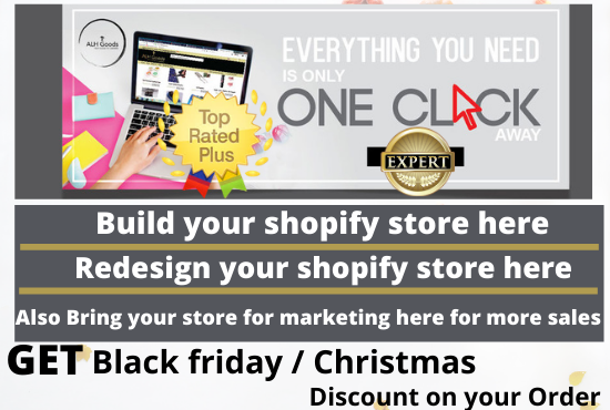 I will be your shopify store design expert for shopify website ecommerce store SEO, FiverrBox
