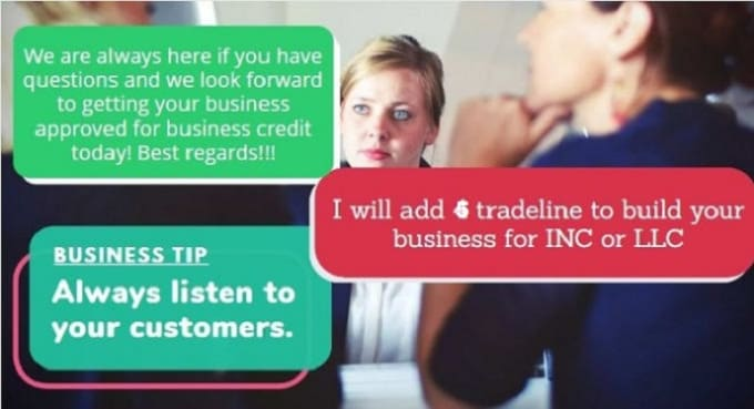I will add 5 business trade lines to build your business credit for llc or inc, FiverrBox