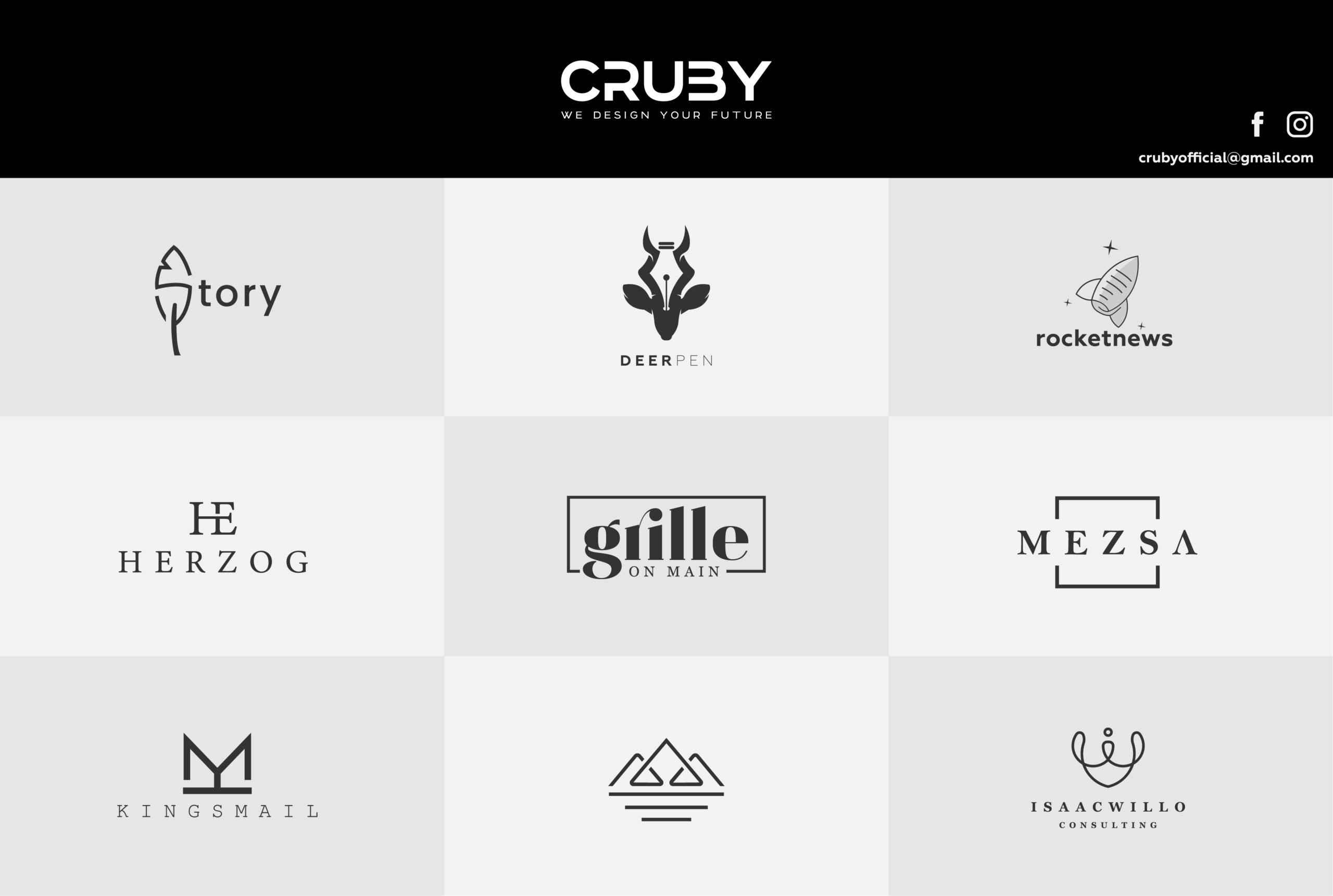I will do special minimalist business logo design, FiverrBox