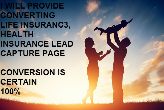 I will provide converting life insurance leads, health insurance leads, FiverrBox