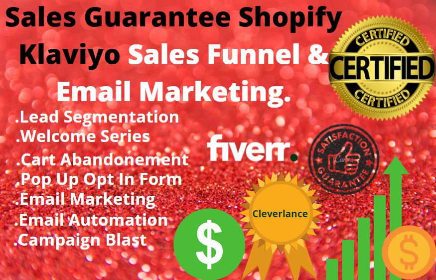 I will do sales boosting email marketing sales funnel for shopify store, FiverrBox