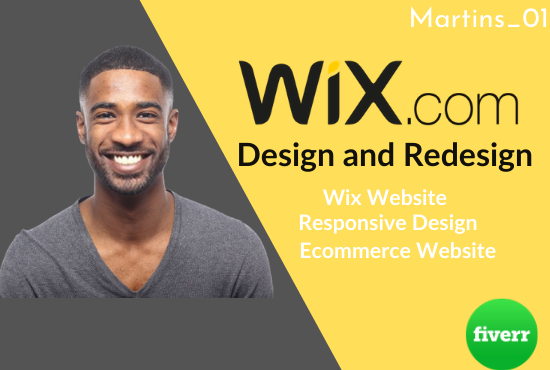 I will design and redesign a professional wix website, wix ecommerce website, FiverrBox
