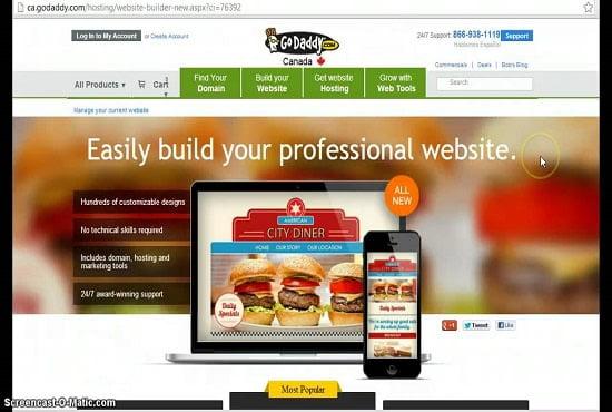 I will zealously develop responsive godaddy website wordpress website wix website, FiverrBox