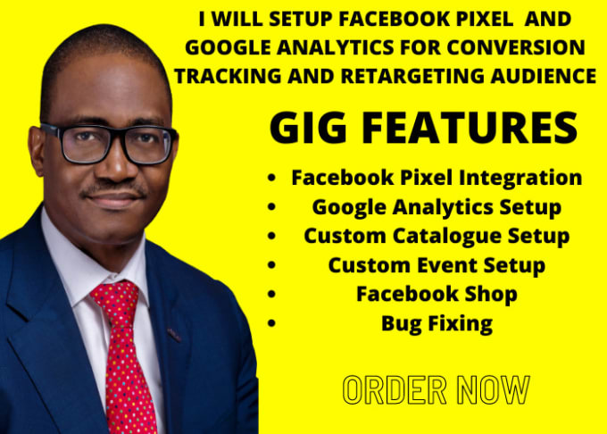 I will setup facebook pixel and google analytic for conversion tracking and retargeting, FiverrBox