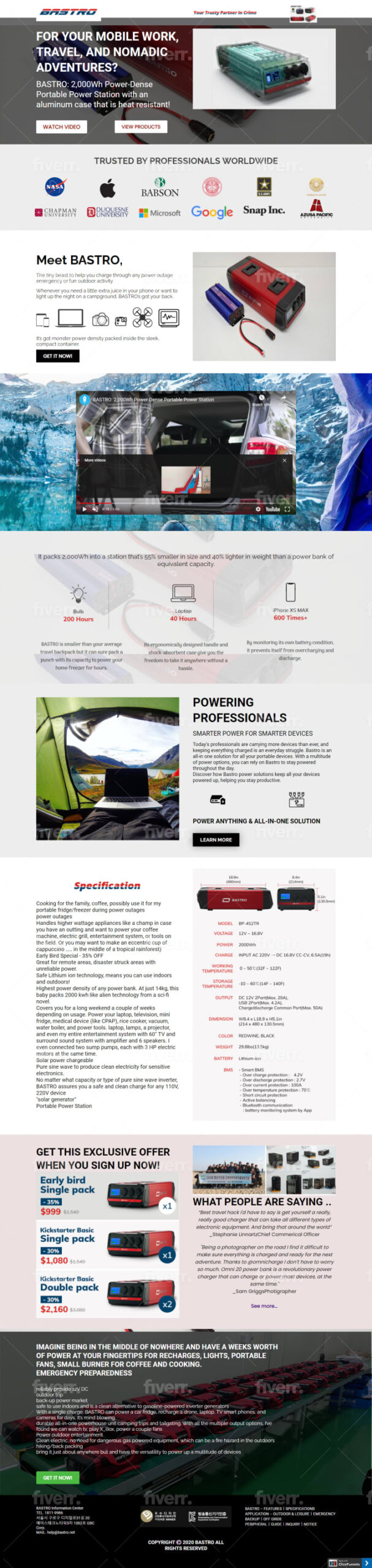 I will create custom roi sales funnel guaranteed clickfunnels sales funnel, FiverrBox