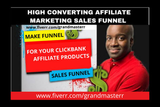 I will build high converting clickbank affiliate marketing sales funnel, FiverrBox