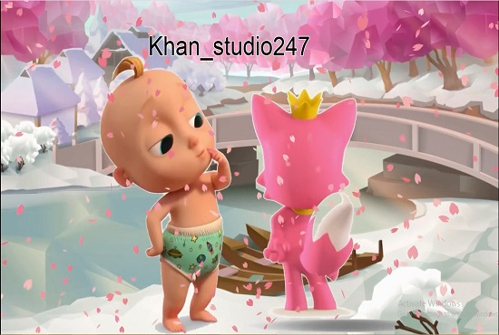 I will design hot 2d kids video animation, cartoon animation, nursery rhyme, FiverrBox