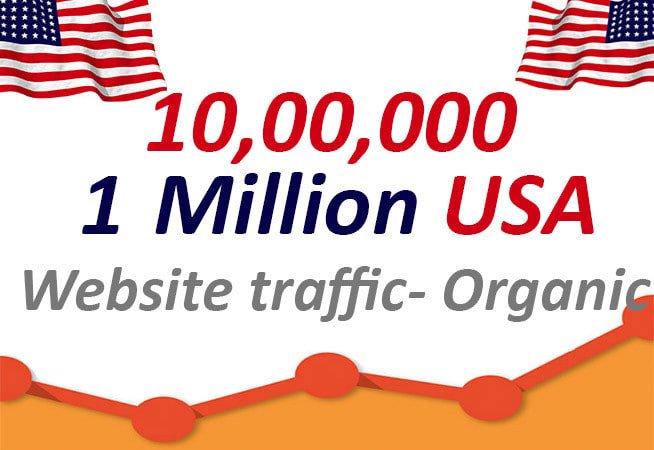 I will drive 1million USA organic web traffic, etsy shopify store marketing, FiverrBox