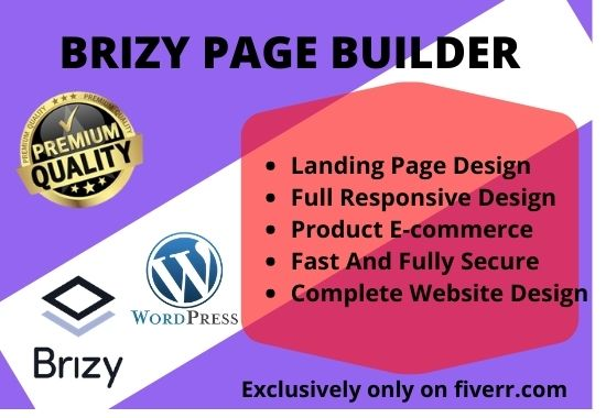 I will build and create wordpress website with brizy builder, FiverrBox