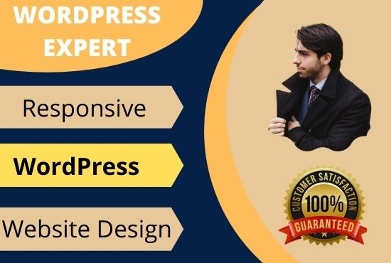 I wiil design and develop a well functional and responsive wordpress website, FiverrBox