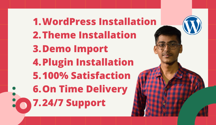 I will install wordpress, theme, plugin & setup demo content, FiverrBox