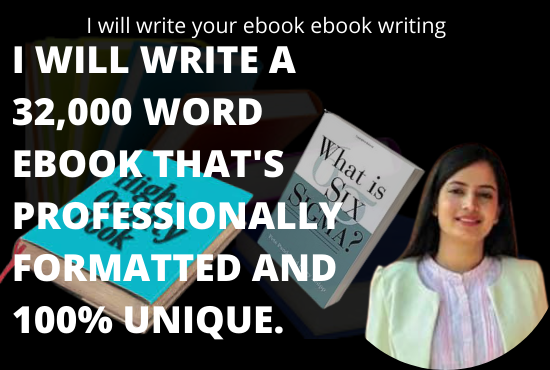 I will write your ebook ebook writing, FiverrBox