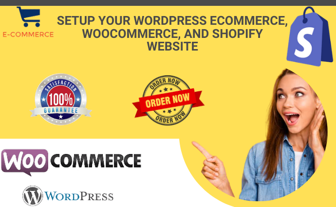 I will SETUP YOUR WORDPRESS ECOMMERCE, WOOCOMMERCE, AND SHOPIFY WEBSITE, FiverrBox
