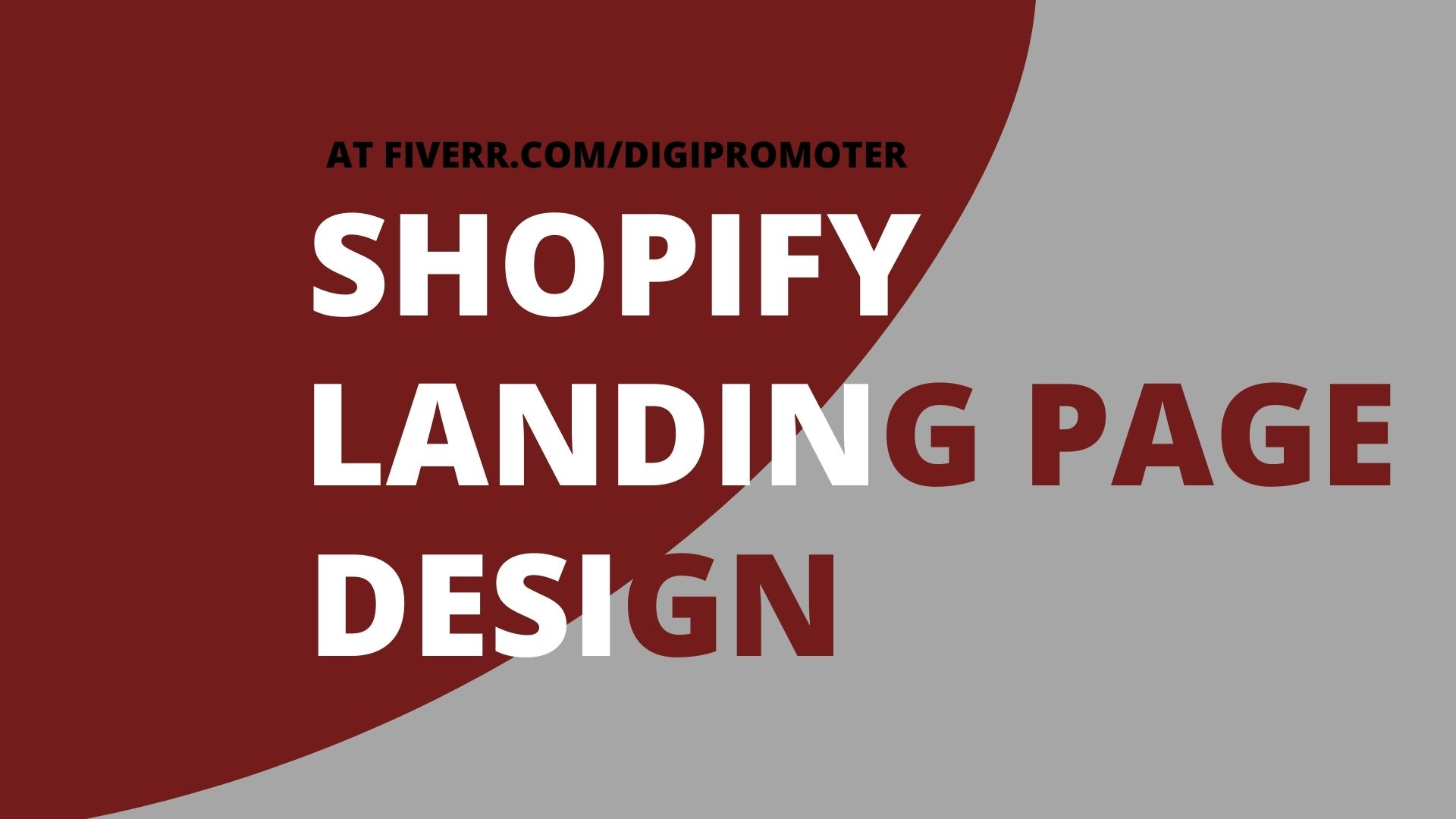 I will design shopify landing page samcart wix hubspot clickfunnels landing page, FiverrBox
