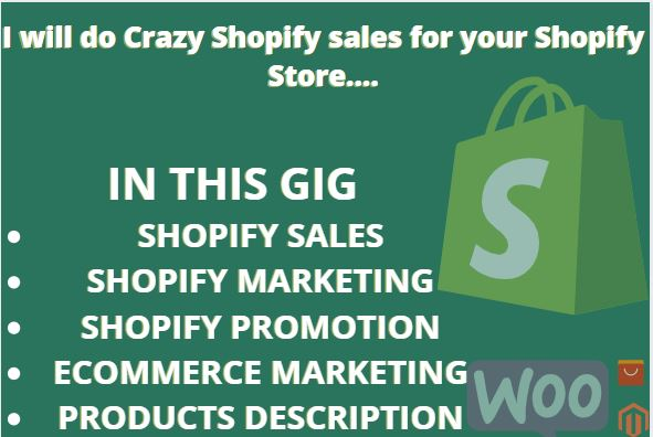 I will skyrocket your shopify sales with shopify marketing store SEO for shopify store, FiverrBox