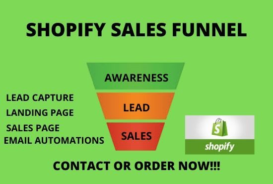 I will build shopify sales funnel, shopify promotion, shopify traffic to generate sales, FiverrBox
