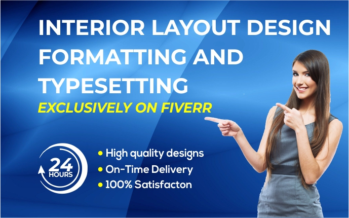 I will do interior book layout design, formatting and typesetting, FiverrBox