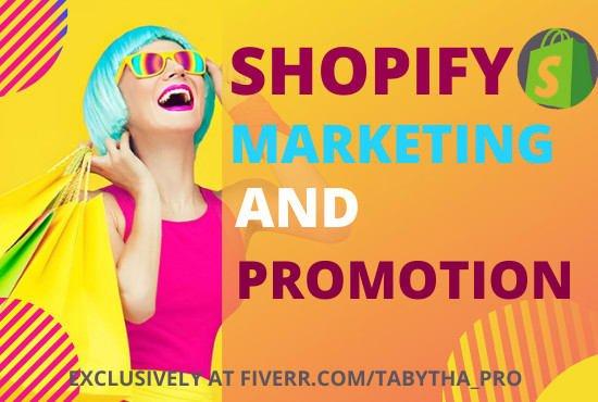 I will shopify marketing shopify promotion shopify traffic, FiverrBox