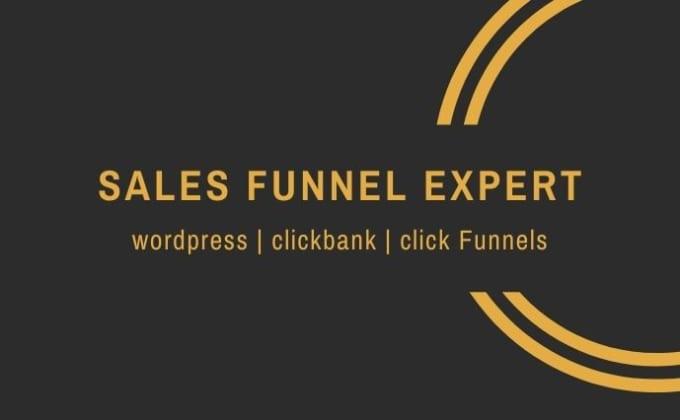 I will create clickbank click funnel affiliate marketing sales funnel, FiverrBox
