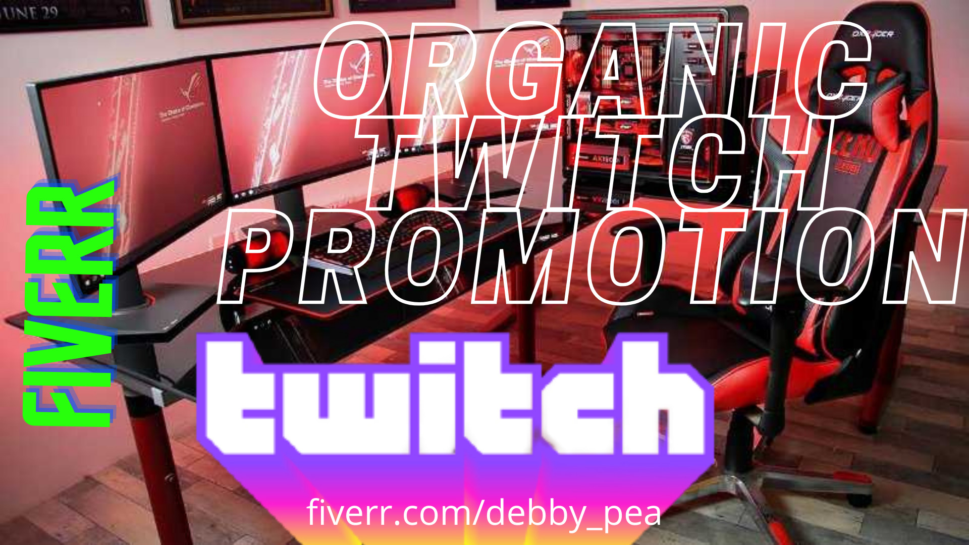 I will do organic twitch promotion to twitch traffic to gain real and organic audience, FiverrBox