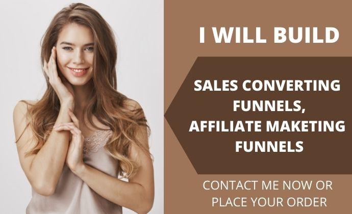 I will build sales funnel, affiliate marketing funnels in clickfunnels, FiverrBox