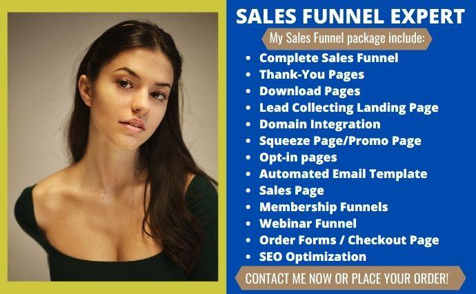 I will build sales funnel,ROI guaranteed sales funnel, wordpress sales funnel, FiverrBox