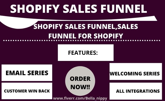I will create high converting shopify sales funnel,clickfunnels sales funnels shopify, FiverrBox