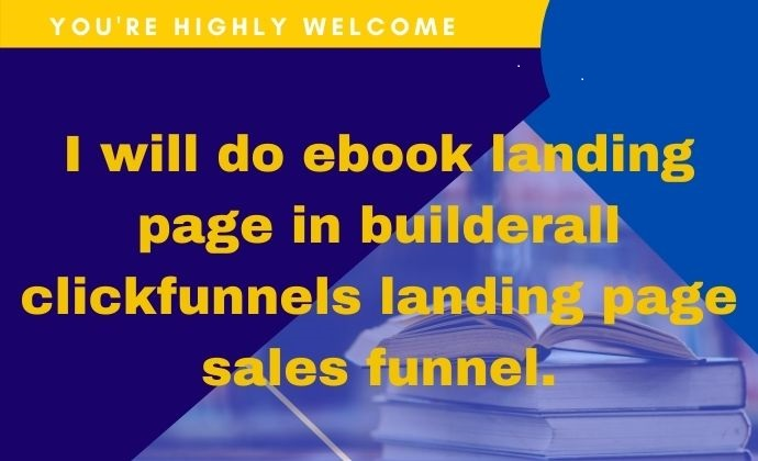 I will do ebook landing page in builderall clickfunnels landing page sales, FiverrBox